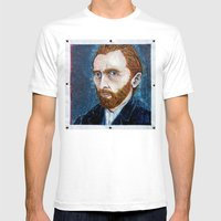 Vincent Van Gogh Mens Fitted Tee White SMALL