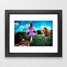 Rivers, Fields & Lions Framed Art Print