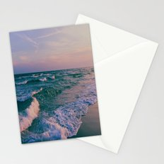 Sunset Crashing Waves  Stationery Cards