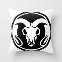 Day of the Ram Throw Pillow