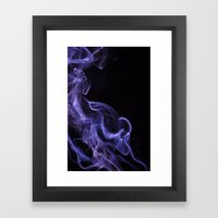 Veil Of Smoke Framed Art Print