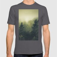 Forests Never Sleep Mens Fitted Tee Asphalt SMALL