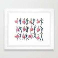 Sock Hop Framed Art Print