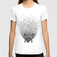 Thorny Hedgehog Womens Fitted Tee White SMALL