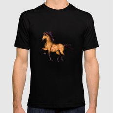 HORSE-Prairie dancer SMALL Mens Fitted Tee Black
