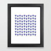Blue Balloon Flower Pattern Framed Art Print