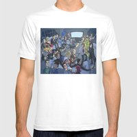 TV Mens Fitted Tee White SMALL