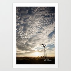 Sandhills Windmill @ Sunset Verticle Art Print