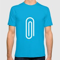 #41 Paperclip Mens Fitted Tee Teal SMALL