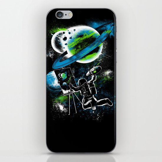 space Painting iPhone & iPod Skin