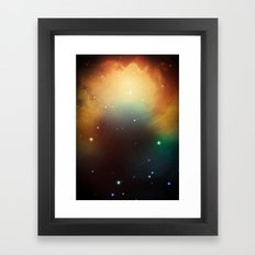 year3000 - Orange Space Framed Art Print