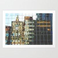 urban reflections Art Print