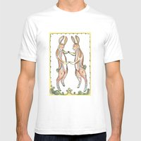 Hare Pair Mens Fitted Tee White SMALL