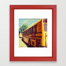 School Bus Framed Art Print