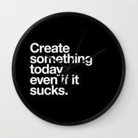 Create Something Today E… Wall Clock