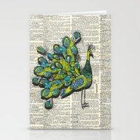 peacock Stationery Cards featuring Peacock  by Sheree Joy Burlington
