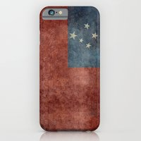 iPhone & iPod Case featuring Samoan national flag - Vintage retro version to scale by Bruce Stanfield