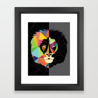 Framed Art Print featuring Lion by Steph Dillon