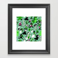Alt Monster March (Green… Framed Art Print