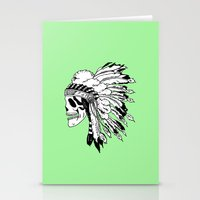 Black and White Native American  Stationery Cards
