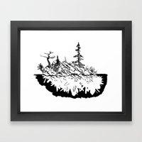 Crystal Islands 3 Framed Art Print