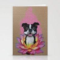 Zen Boston Terrier Stationery Cards