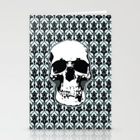 Skull Print Stationery Cards