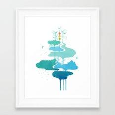 Weather Veins Framed Art Print