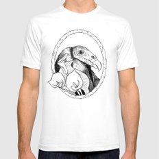 Mr. Vulture Mens Fitted Tee White SMALL