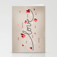Love, Butterfly Hearts &… Stationery Cards