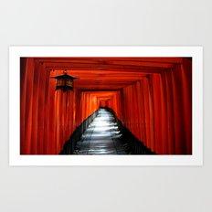 Fushimi Inari Path, Kyoto Art Print