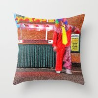 Hey clown Throw Pillow
