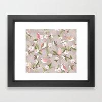 Blossom and birds Framed Art Print