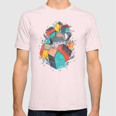 Tumble Town  Mens Fitted Tee Light Pink SMALL