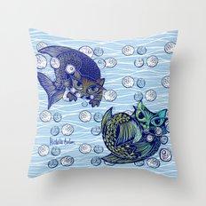 Cats print Throw Pillow
