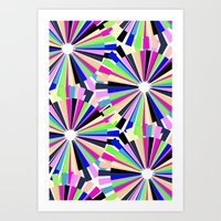 MULTI COLOURED WHEELS Art Print