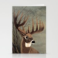 Buck With Big Racks  Stationery Cards