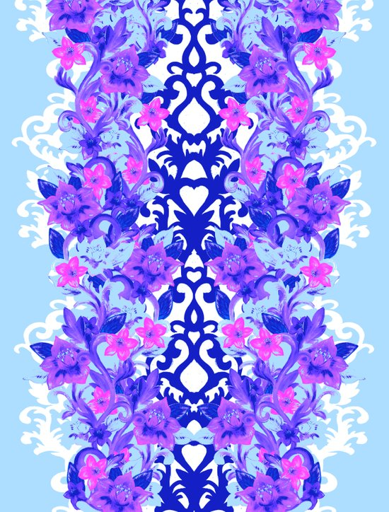 Baroque Blue Art Print