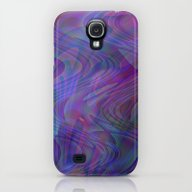 Blue Swirls Galaxy S4 Slim Case