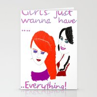 girls Stationery Cards featuring Girls by jt7art&design