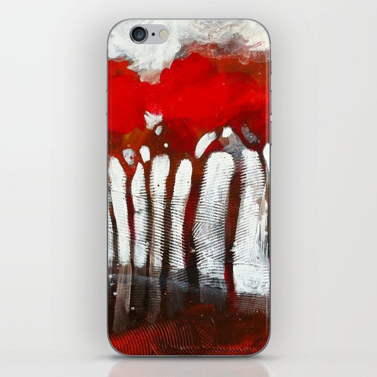 Red trees iPhone & iPod Skin