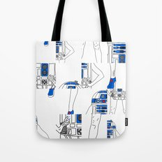 Robot Girl Cubism Tote Bag