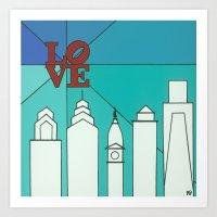LOVE shine Art Print