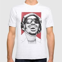 Stevie Wonder Mens Fitted Tee Ash Grey SMALL