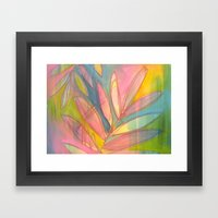 Happy Ferns Framed Art Print