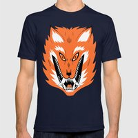 Cursed Fox Mens Fitted Tee Navy SMALL