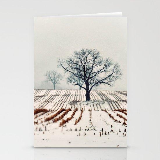 Winter Farm Stationery Card