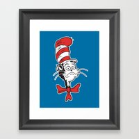 The Grumpy Hat Framed Art Print
