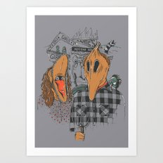 Beetle Gothic - A portrait of the recently deceased Art Print