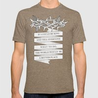 Crown Of Thorns Mens Fitted Tee Tri-Coffee SMALL